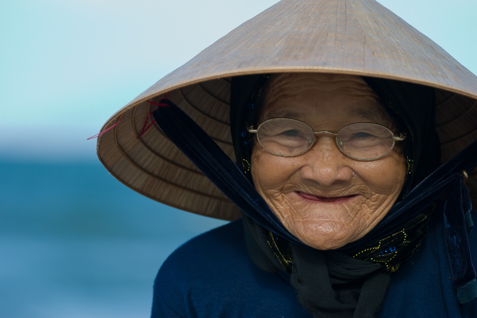 Old Asian Woman And 12